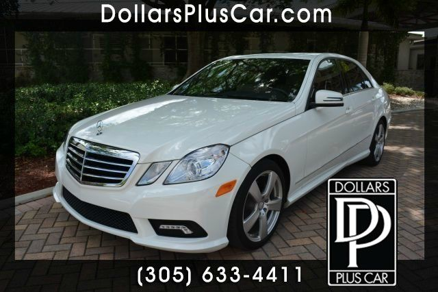 2011 MERCEDES-BENZ E-CLASS E350 LUXURY 4MATIC AWD 4DR SEDAN white dollars plus car truly has the l