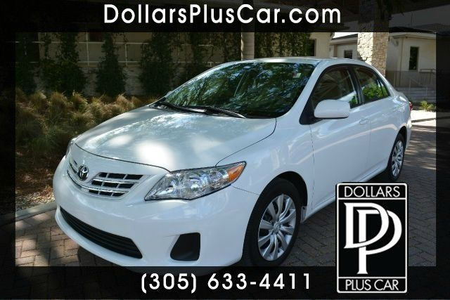 2013 TOYOTA COROLLA LE 4DR SEDAN 4A white this white toyota corolla is the perfect vehicle if you