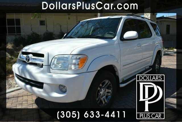 2005 TOYOTA SEQUOIA SR5 4DR SUV white dollars plus car truly has the best prices     retail value