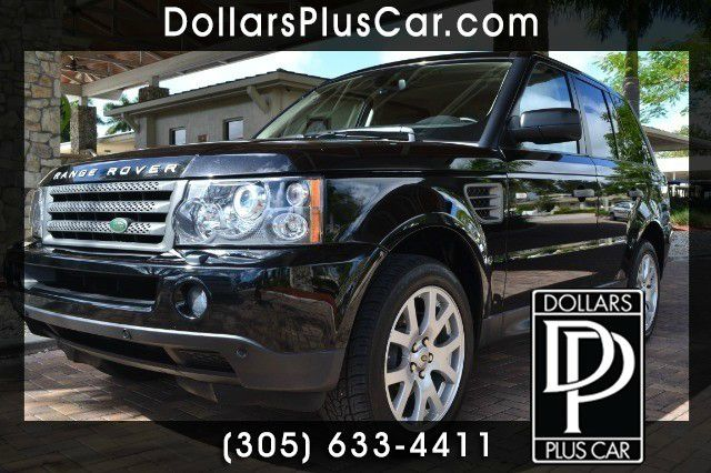 2009 LAND ROVER RANGE ROVER SPORT HSE black dollars plus car truly has the lowest prices     mark