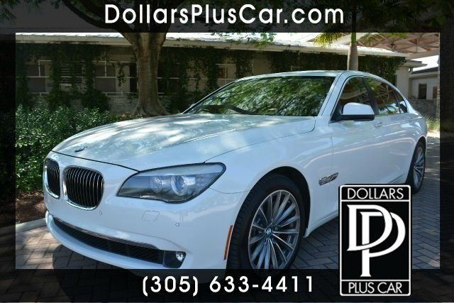 2012 BMW 7 SERIES 740LI 4DR SEDAN white dollars plus car truly has the best prices   average mar