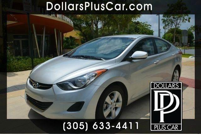 2013 HYUNDAI ELANTRA GLS 4DR SEDAN 6A WALLOY WHEELS silver dollars plus car truly has the best c