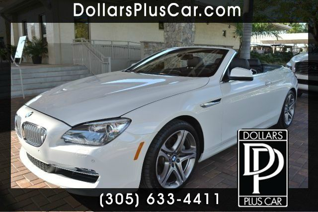 2012 BMW 6 SERIES 650I 2DR CONVERTIBLE white dollars plus car truly has the best prices   average