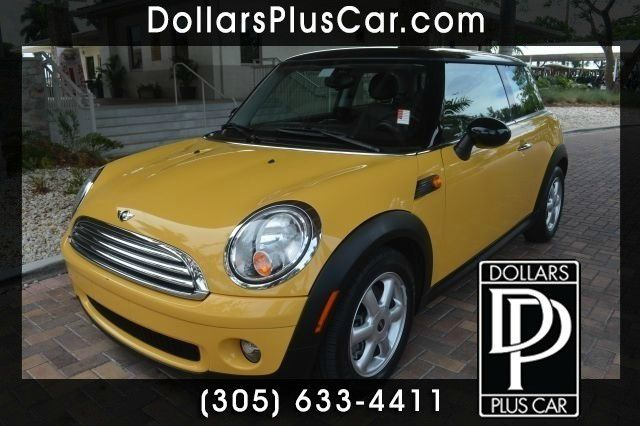 2009 MINI COOPER BASE 2DR HATCHBACK yellow dollars plus car truly has the best prices  market pri
