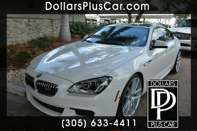 2014 BMW 6 SERIES 640I GRAN COUPE 4DR SEDAN white dollars plus car truly has the best prices   a
