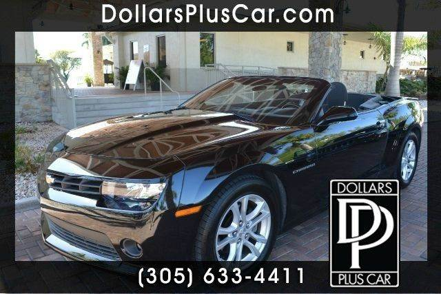 2014 CHEVROLET CAMARO LT 2DR CONVERTIBLE W1LT black dollars plus car truly has the best prices