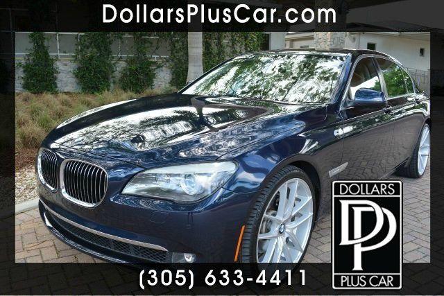 2011 BMW 7 SERIES 740LI 4DR SEDAN blue dollars plus car truly has the best prices   average marke