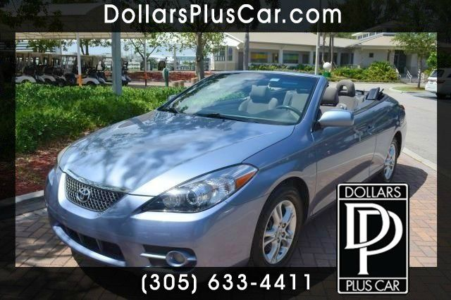 2007 TOYOTA CAMRY SOLARA SE V6 blue this convertible camry solara is the perfect vehicle if youre