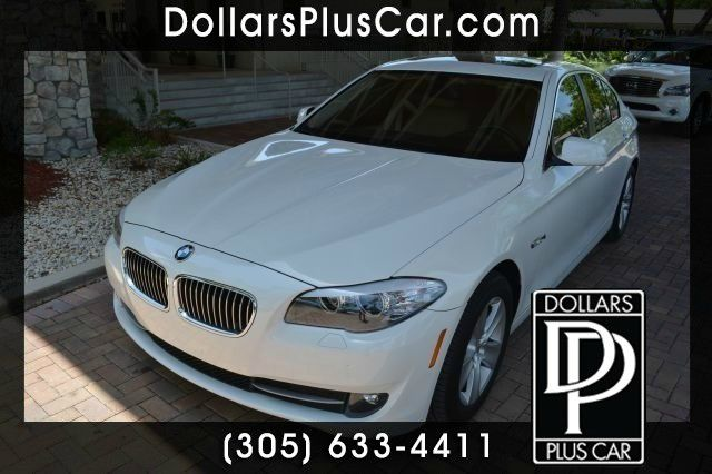2011 BMW 5 SERIES 528I 4DR SEDAN white dollars plus car truly has the best prices   average marke
