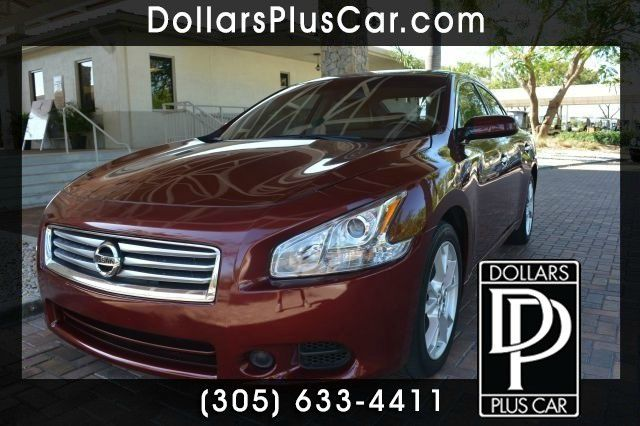 2012 NISSAN MAXIMA 35 SV 4DR SEDAN red dollars plus car truly has the best cars and the best pri