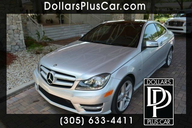 2012 MERCEDES-BENZ C-CLASS C250 2DR COUPE silver dollars plus car truly has the lowest prices   m
