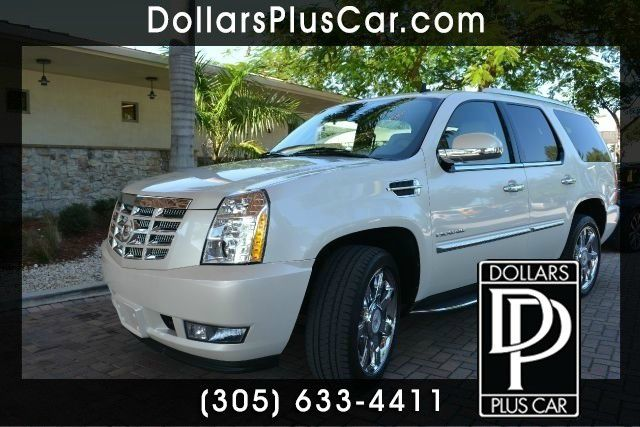 2012 CADILLAC ESCALADE LUXURY AWD 4DR SUV white dollars plus car truly has the best prices     re