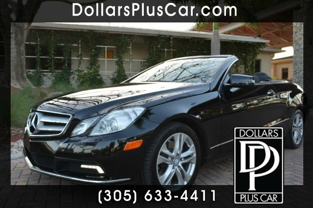 2011 MERCEDES-BENZ E-CLASS E350 CABRIOLET black dollars plus car truly has the best prices   mark