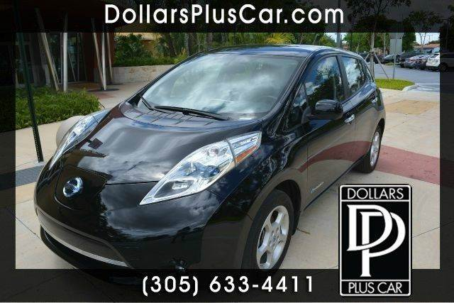 2013 NISSAN LEAF SV 4DR HATCHBACK black dollars plus car truly has the best cars and the best pri