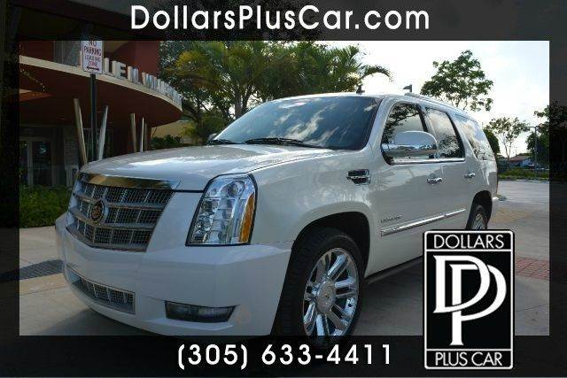 2011 CADILLAC ESCALADE PLATINUM EDITION AWD 4DR SUV white dollars plus car truly has the best car