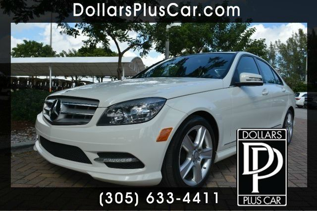 2011 MERCEDES-BENZ C-CLASS C300 LUXURY 4DR SEDAN white dollars plus car truly has the lowest price