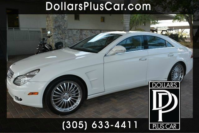 2006 MERCEDES-BENZ CLS-CLASS CLS500 4DR SEDAN white dollars plus car truly has the lowest prices