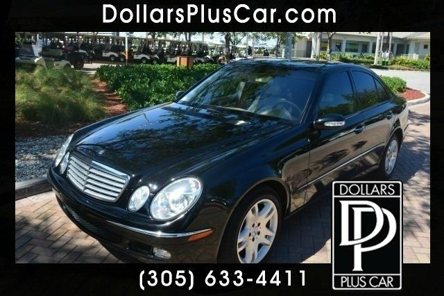 2003 MERCEDES-BENZ E-CLASS E500 4DR SEDAN black dollars plus car truly has the lowest prices
