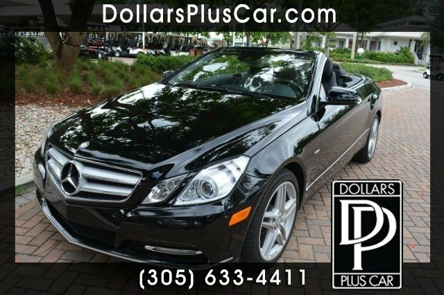 2012 MERCEDES-BENZ E-CLASS E350 2DR CONVERTIBLE black dollars plus car truly has the best prices