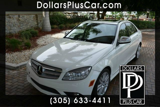 2009 MERCEDES-BENZ C-CLASS C300 SPORT 4DR SEDAN white dollars plus car truly has the lowest prices