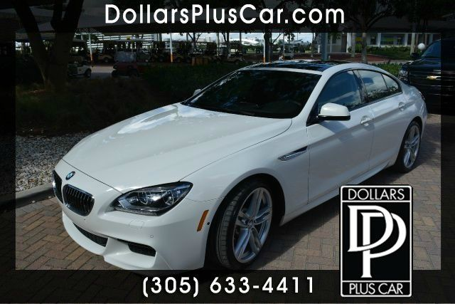 2014 BMW 6 SERIES 640I GRAN COUPE 4DR SEDAN white dollars plus car truly has the best prices  mar