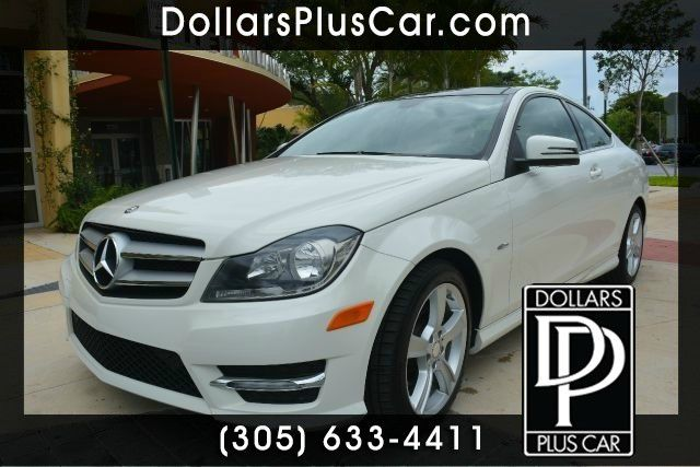 2012 MERCEDES-BENZ C-CLASS C250 2DR COUPE white dollars plus car has the best prices and the best