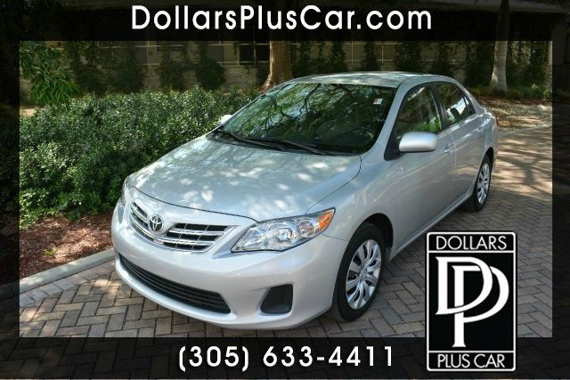 2013 TOYOTA COROLLA LE 4DR SEDAN 4A silver this toyota corolla is the perfect vehicle if youre in