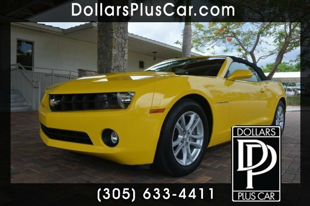 2013 CHEVROLET CAMARO LT 2DR CONVERTIBLE W1 yellow dollars plus car truly has the best prices  m