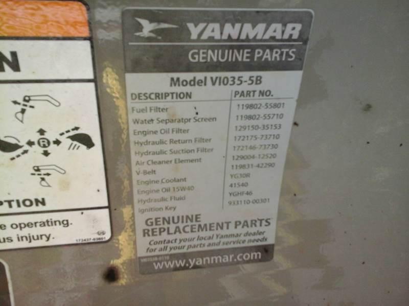 2011 Yanmar Vio35-5B  - Bath NY