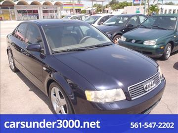 2003 Audi A4 for sale in Lake Worth, FL