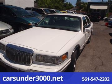 1997 Lincoln Town Car for sale in Lake Worth, FL