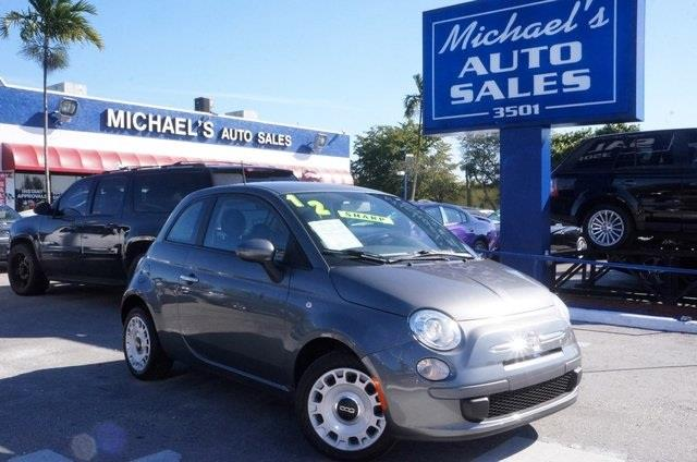 2012 FIAT 500 POP 2DR HATCHBACK grigio gray clean carfax automatic and new tires