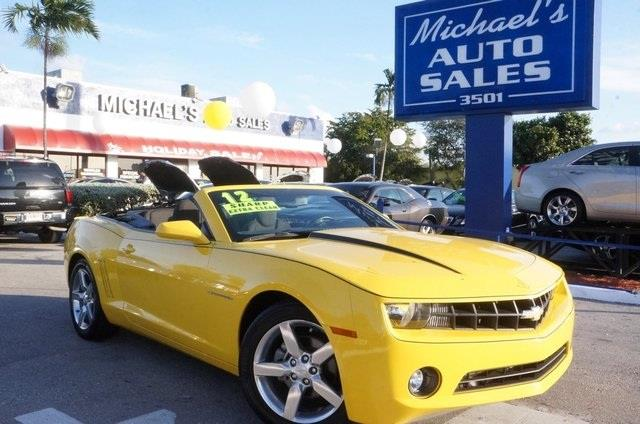 2012 CHEVROLET CAMARO LT 2DR CONVERTIBLE W1LT rally yellow 99 point safety inspection cle