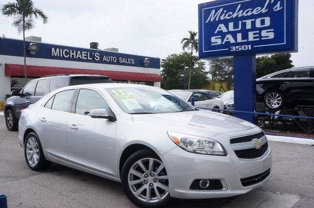 2013 CHEVROLET MALIBU LT 4DR SEDAN W2LT silver metallic its time for michaels auto sales nice