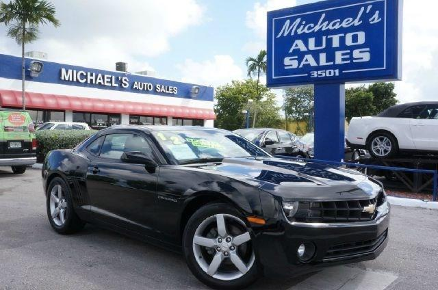 2010 CHEVROLET CAMARO LT 2DR COUPE W1LT black 99 point safety inspection clean carfax