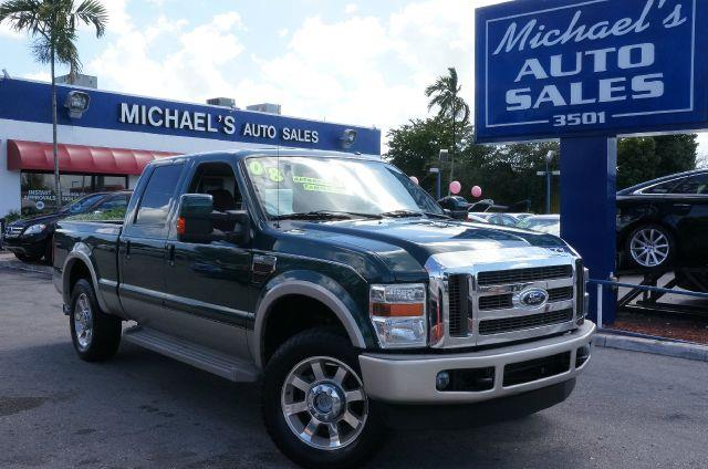 2008 FORD F250 LARIAT forest green clearcoat metalli power stroke 64l v8 di 32v ohv twin turbo di