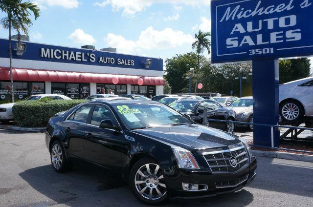 2009 CADILLAC CTS 36L SIDI WITH NAVIGATION black raven abs brakesair conditioningalloy wheelsa