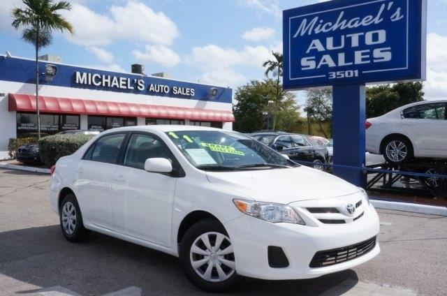 2011 TOYOTA COROLLA super white toyota fever drive this home today has ample oomph for stress-