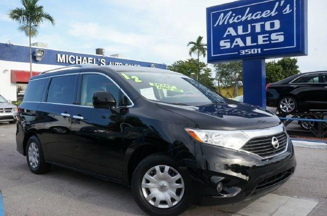 2012 NISSAN QUEST 35 S 4DR MINI VAN super black clean carfax 99 point safety inspection