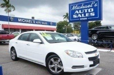 2012 CHEVROLET MALIBU LT 4DR SEDAN W1LT summit white 99 point safety inspection clean car