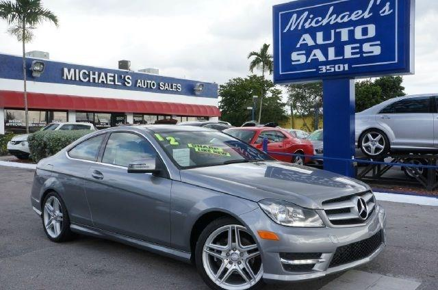 2012 MERCEDES-BENZ C-CLASS C250 2DR COUPE steel gray metallic clean carfax 99 point safet