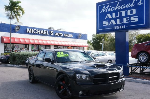 2008 DODGE CHARGER SRT8 brilliant black crystal pearlc srt hemi 61l v8 moonroof  sunroof a