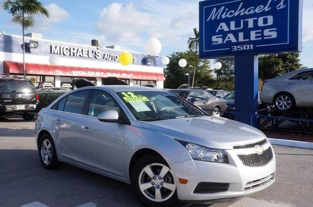 2012 CHEVROLET CRUZE LT 4DR SEDAN W1LT silver ice metallic turbo at michaels auto sales youre