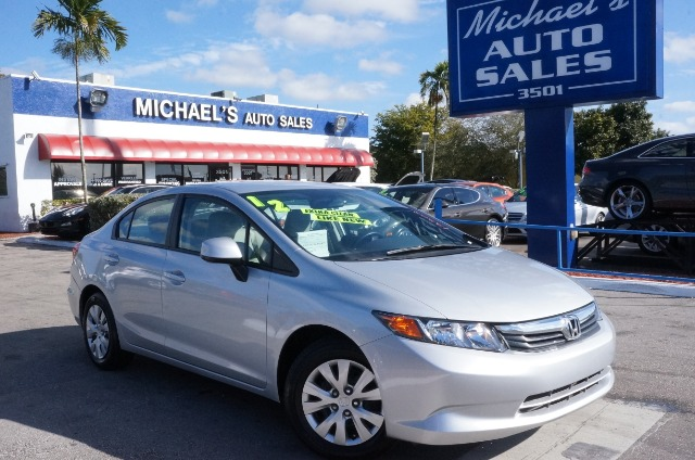 2012 HONDA CIVIC LX alabaster silver metallic 99 point safety inspection automatic and
