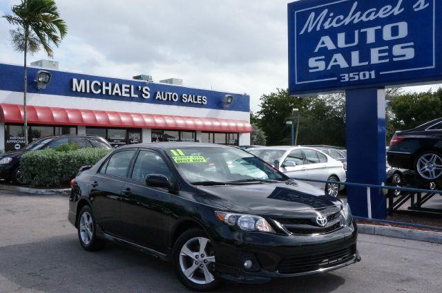 2011 TOYOTA COROLLA S 4-SPEED AT black sand pearl call now 1-866-717-9571  free autocheck  carfa