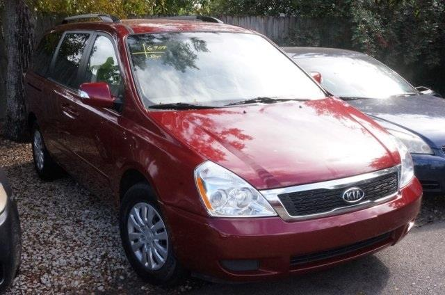 2012 KIA SEDONA LX 4DR MINI VAN LWB claret red power to surprise red hot how would you like ri