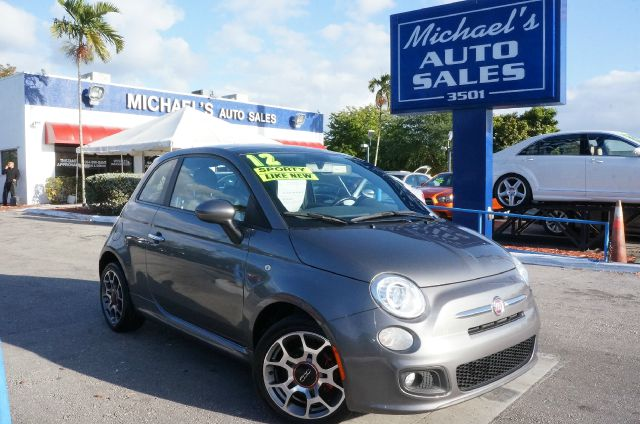 2012 FIAT 500 SPORT argento silver 99 point safety inspection automatic leather a