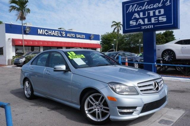 2013 MERCEDES-BENZ C-CLASS C250 diamond silver metallic clean carfax 99 point safety insp