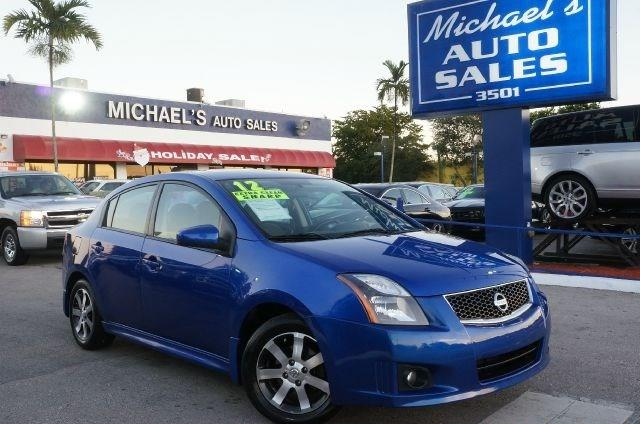 2012 NISSAN SENTRA 20 SR 4DR SEDAN metallic blue 99 point safety inspection clean carfax