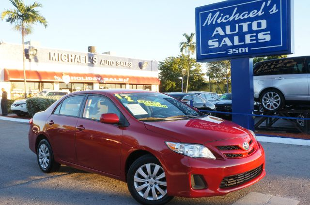 2012 TOYOTA COROLLA LE 4DR SEDAN 4A barcelona red metallic 99 point safety inspection clea